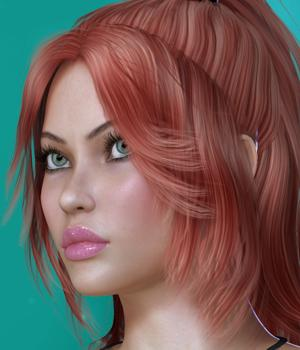 Cora Hair for V4 3D Figure Assets SWAM