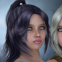 Cora Hair for V4 image 4