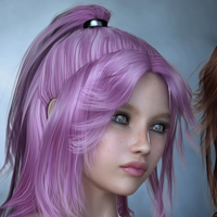 Cora Hair for V4 image 5