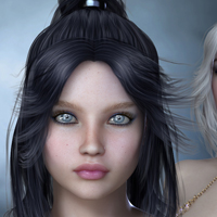 Cora Hair for V4 image 6