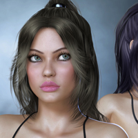 Cora Hair for V4 image 7