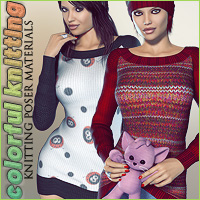 Colorful Knitting Materials 2D lilflame