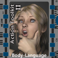 Action Toolkit II for V4 3D Figure Assets 3-d-c