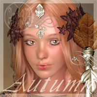 Arah3D Autumn for V4 3D Figure Essentials Arah