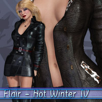Flair - Hot Winter IV 3D Figure Assets kaleya