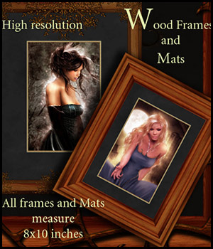Wood Frames and Mats 2D Graphics 3D Models antje