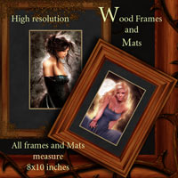 Wood Frames and Mats Themed 2D And/Or Merchant Resources antje