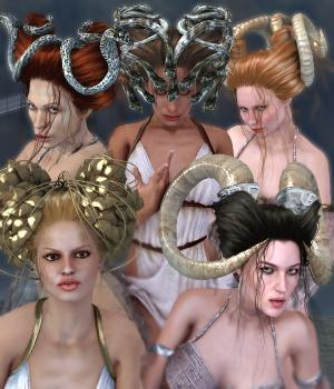 SAV Mythos For Brixie Hair 3D Figure Assets 3D Models StudioArtVartanian