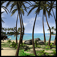 Tropical island, the Beach by 2nd_World