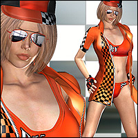 Racing Queen for V4 with 10 Poses 3D Figure Assets RPublishing