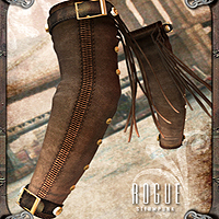 Steampunk Rogue for V4 with Props and Poses image 4