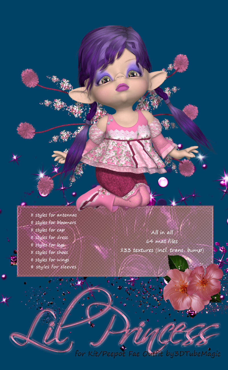 DA-Lil Princess for Kit/Peepot Fae Outfit by 3D TubeMagic