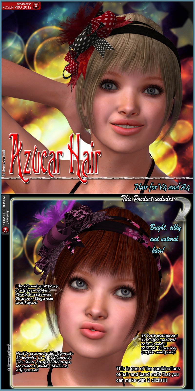 Azucar Hair For V4 And A4