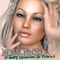 Model Faces 3D Figure Assets Freja