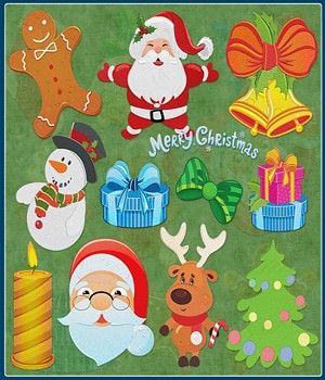 Christmas Embroidery 2D Graphics Atenais