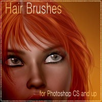 Antje's Hair Brushes - 3 & Bonus Tutorial Themed 2D And/Or Merchant Resources Tutorials antje
