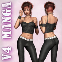V4 Manga Outfit 3D Figure Essentials 3D Models Richabri