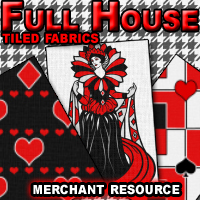 Full House Tiled Fabrics Themed 2D And/Or Merchant Resources mystikel