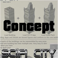 SciFi City Construction Set - Base Pack 1 image 1
