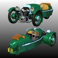MORGAN 3-WHEELER 1911-1939 ( for POSER ) 3D Models 3DClassics