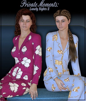 3DA2: Private Moments: Lonely Nights II 3D Figure Assets 3-DArena