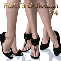 Flats Collection V4 3D Figure Essentials nikisatez