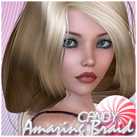 Candy Amazing Braid 3D Figure Assets Sveva