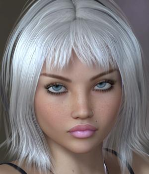 Jesse Hair for V4 3D Figure Assets SWAM