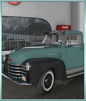 1951 Chevy Pickup 3D Models DreamlandModels