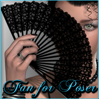 Nikisatez Fan for Poser 3D Figure Essentials nikisatez
