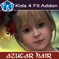 Kids4 Fit Addon For Azucar Hair 3D Figure Assets EmmaAndJordi
