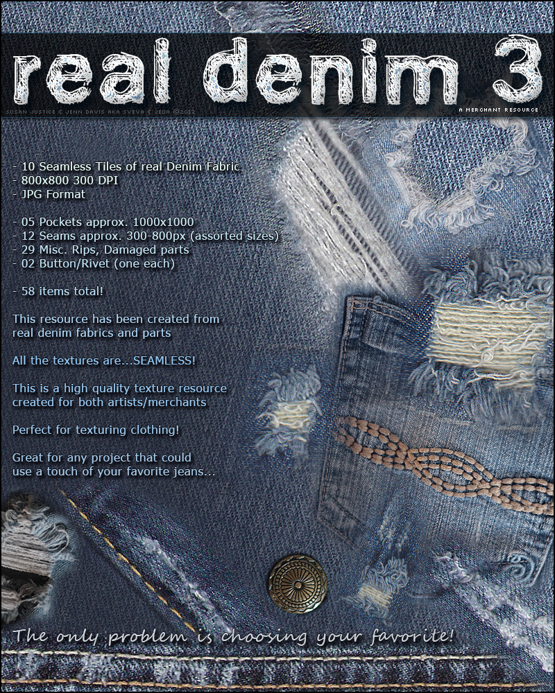 Merchant Resource: Real Denim 03 - Damaged