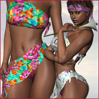 Sexy Sarong for V4 3D Figure Assets RPublishing