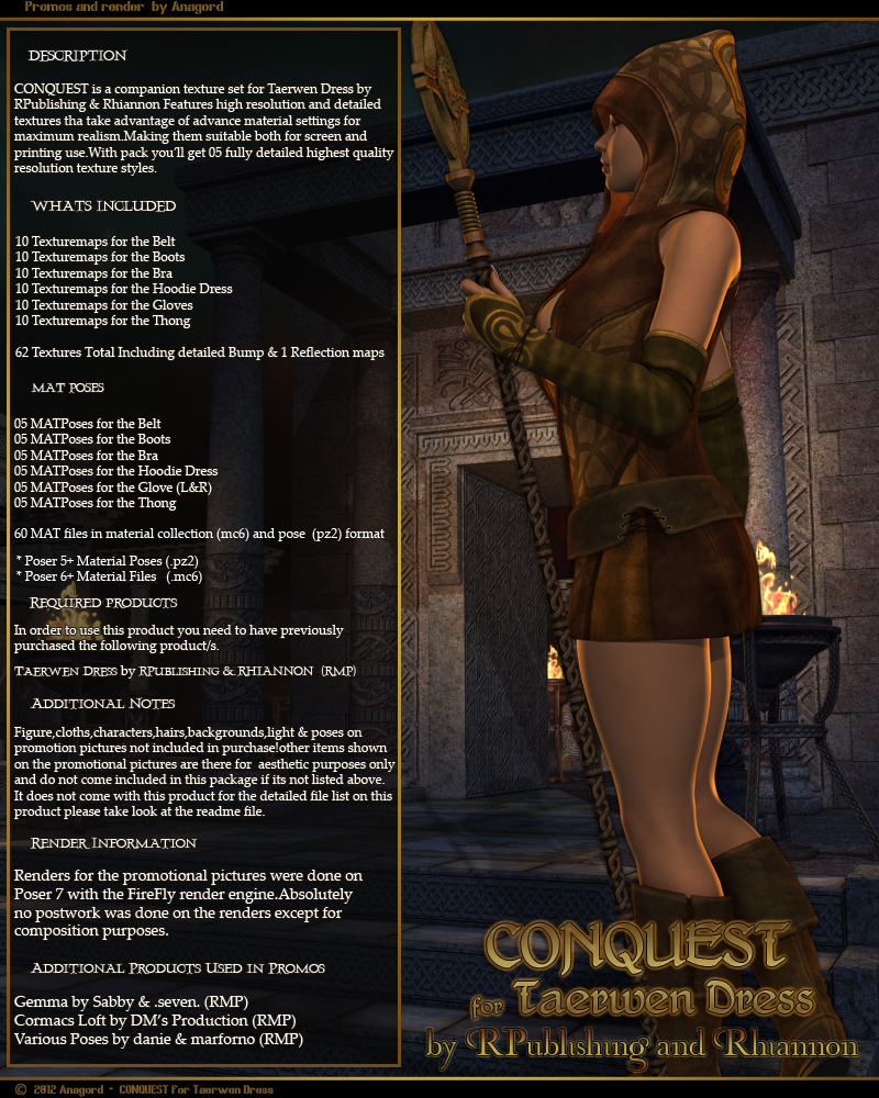 CONQUEST for Taerwen Dress