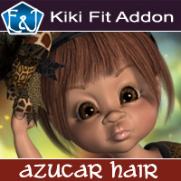 Kiki Fit Addon For Azucar Hair 3D Figure Assets EmmaAndJordi