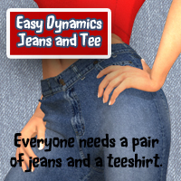 EASY DYNAMICS Jeans and Tee 3D Figure Assets Fugazi1968