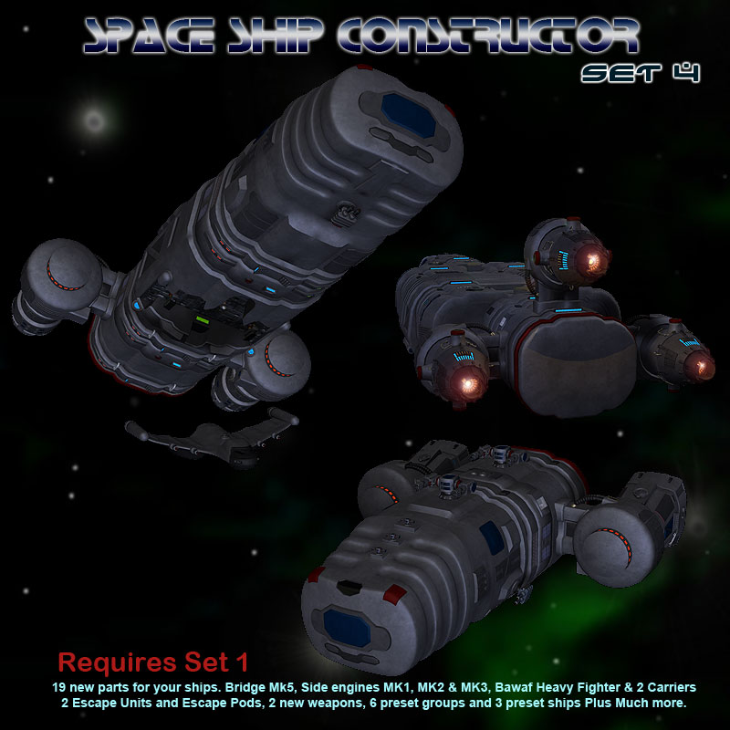 Space Ship Constructor Set 4