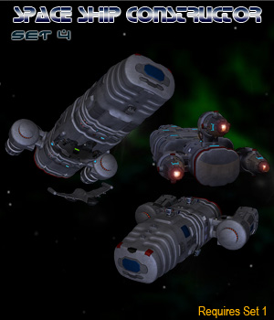 Space Ship Constructor Set 4 3D Models Simon-3D
