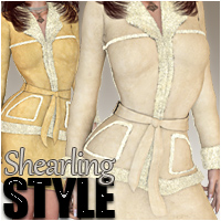 Shearling Style 3D Figure Essentials Silver