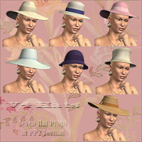 V4 Hats 3D Figure Assets 3D Models Richabri