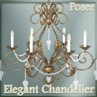 Elegant Chandelier Software 3D Models nikisatez