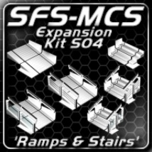SFS-MCS Ramps and Stairs Expansion Kit (S04) 3D Models ShadowGraphics3D