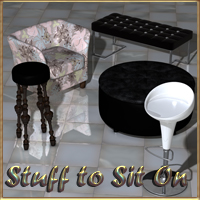Stuff To Sit On - Poser 3D Models nikisatez