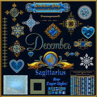 Birthstone Bling!: DECEMBER-BLUE TOPAZ 2D And/Or Merchant Resources Themed fractalartist01