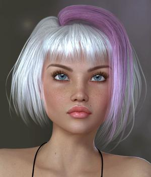 Liv Hair for V4 3D Figure Assets SWAM