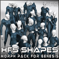 HFS Shapes for Genesis 3D Figure Essentials 3D Models DarioFish