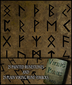 Viking Runes 2D Graphics 3D Models antje