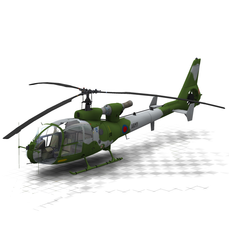 Gazelle Helicopter (for Poser) by VanishingPoint