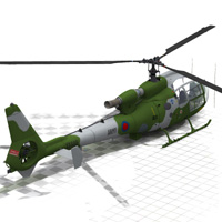 Gazelle Helicopter (for Poser) image 1