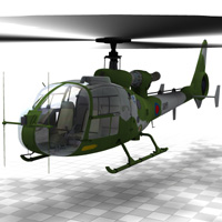 Gazelle Helicopter (for Poser) image 2